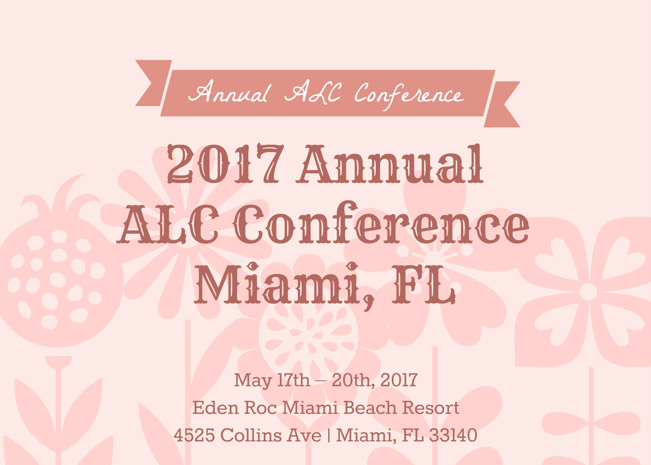 2017 annual alc conference schedule