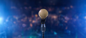 microphone on stage for conference translation