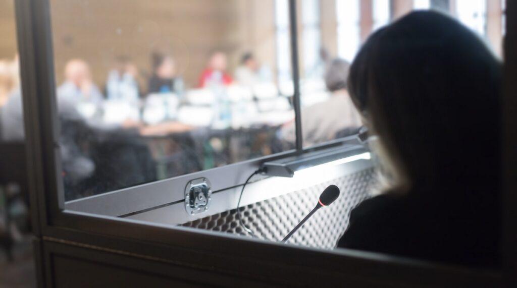 conference translator - remote simultaneous interpretation